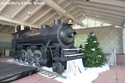 Polar Express train at SeaWorld Orlando