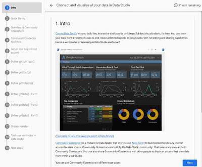 Introducing the Data Studio Community Connector Codelab
