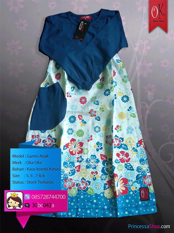 baju muslim anak perempuan baju polos warna biru related