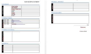 download format contoh file daftar riwayat hidup doc