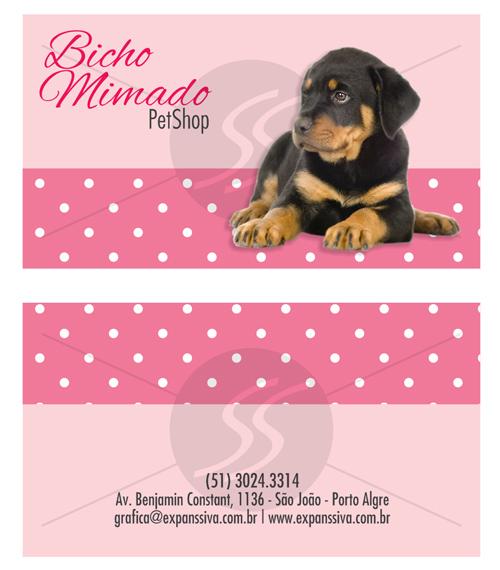 cartao de visita pet shop 2 - Cartões de Visita Pet Shop