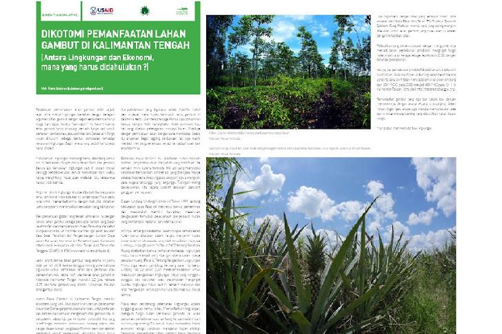Dikotomi Pemanfaatan Gambut di Kalimantan Tengah