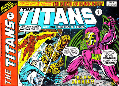 Marvel UK, The Titans #52, Annihilus vs the Fantastic Four