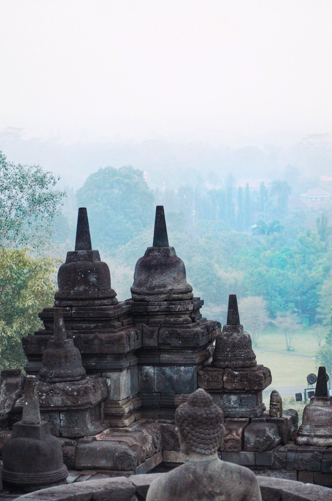 Borobudur Temple at dawn