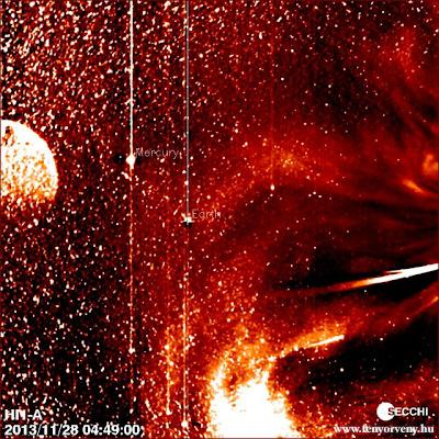Nap-méretű objektum az ISON mögött? (KÉPEKKEL,VIDEÓKKAL!)