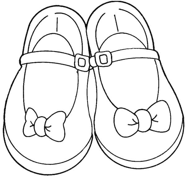 coloriage chaussures enfants