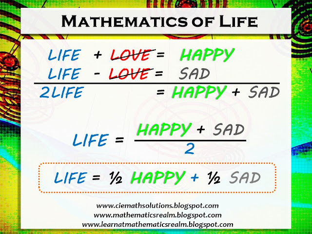 math quotes, quotations about life, mathematics, addition, subtraction, integration of life and math, words to live by
