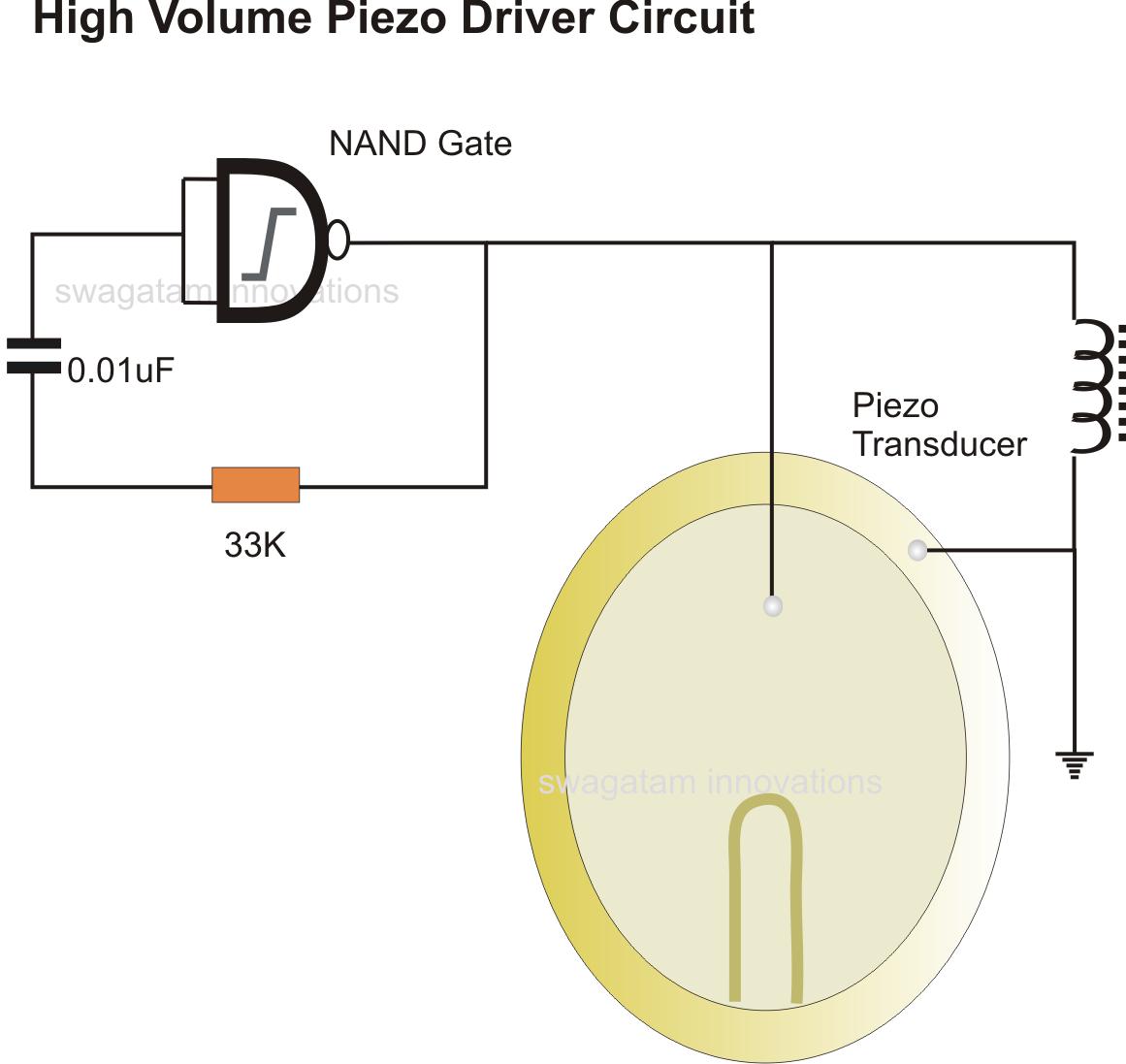 5 watt led driver circuit diagram 1974 vw beetle alternator wiring simplest piezo explained
