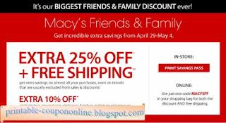 Free Printable Macy's Coupons