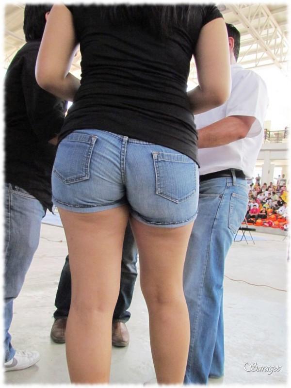 Ass in shorts