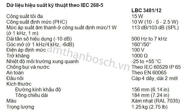 Loa vành LBC 3481/12