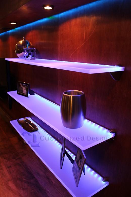 Wall String Lights For Bedroom: 25 Amazing Shelf Lighting & Wall Shelves String Lights