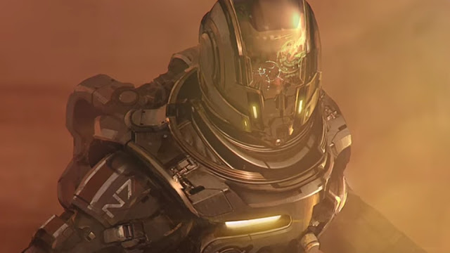 Personaje en 3D del videojuego de exploración espacial Mass Effect Andromeda