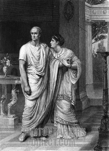The arguments of calpurnia and decius in the tragedy of julius caesar a play by william shakespeare