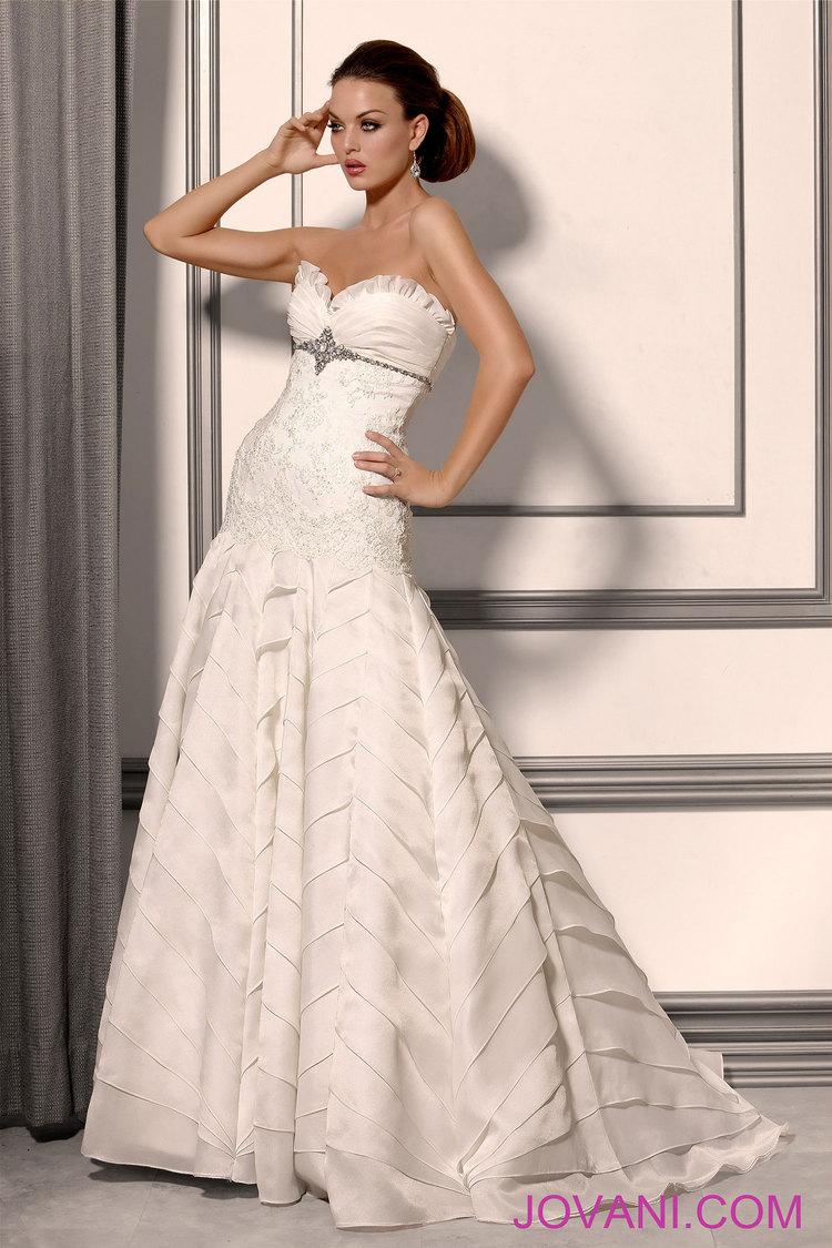 jovani wedding dresses jovani wedding dress jovani embellished drop waist bridal dress