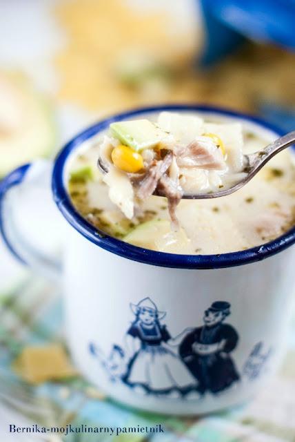 zupa, enchilada, indyk, makaron, lubella, awokado, lazanki, bernika, kulinarny pamietnik