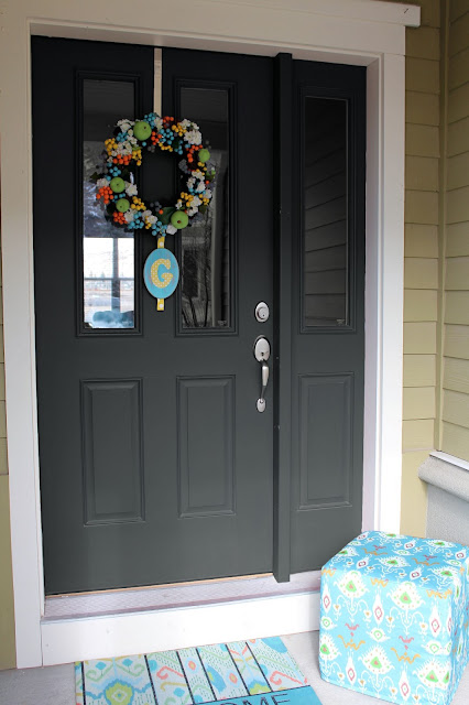 Worth pinning changing the color of the front door - Door colors for gray house ...
