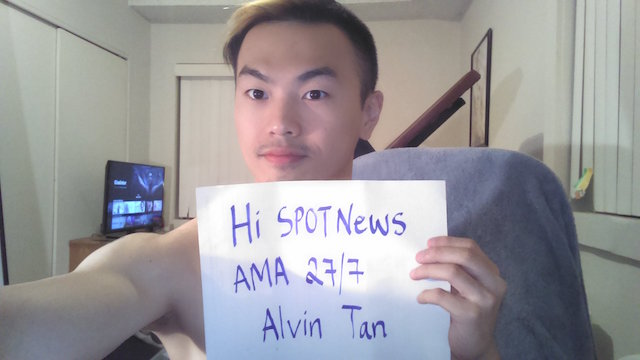 AMA session for Alvin Tan will take place this coming 27 July 2016