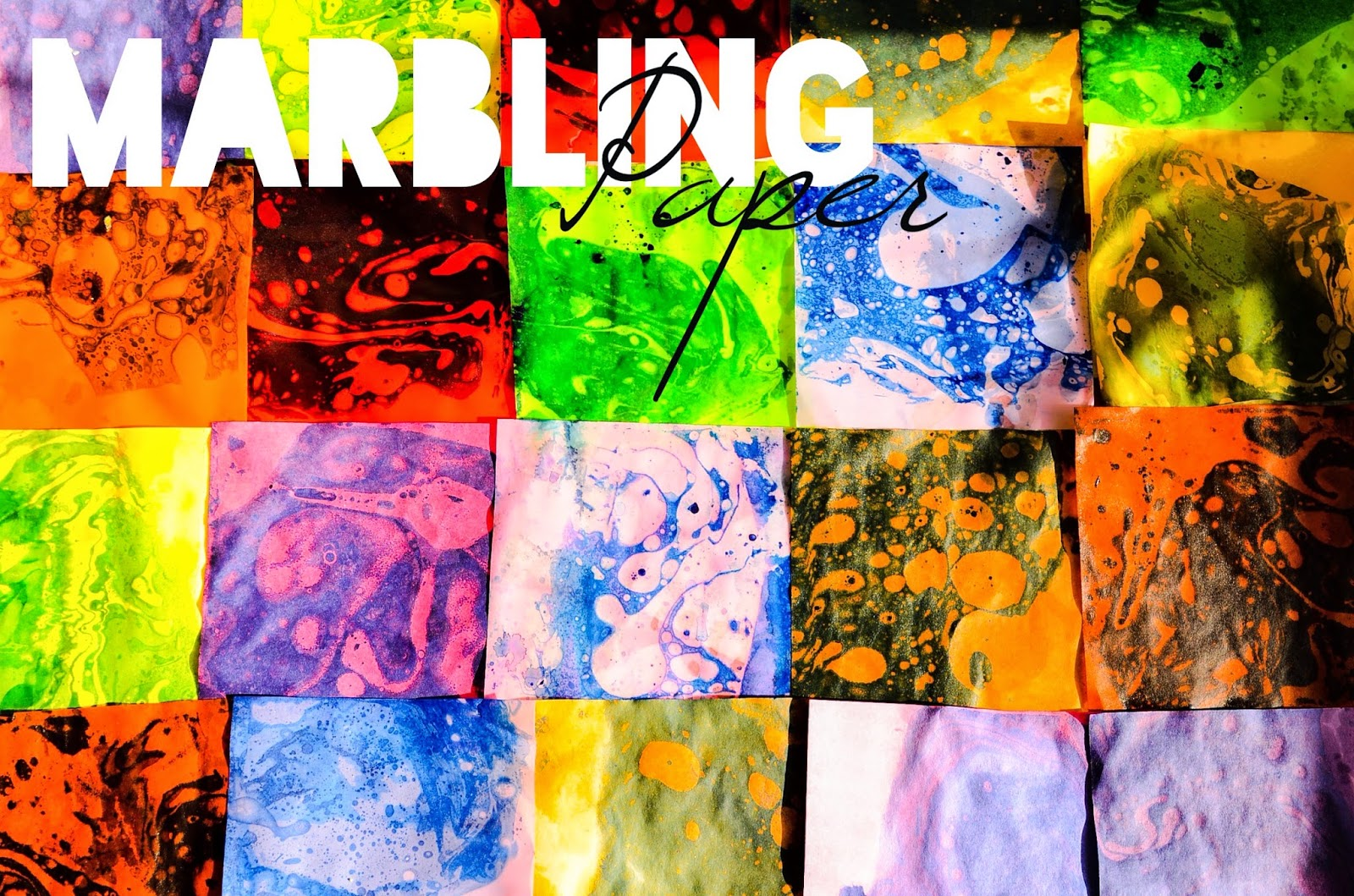 The Practical Mom: Preschooler Art: Marbling Paper