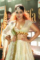 Apoorva Spicy Pics in Cream Deep Neck Choli Ghagra WOW at IIFA Utsavam Awards 2017 118.JPG