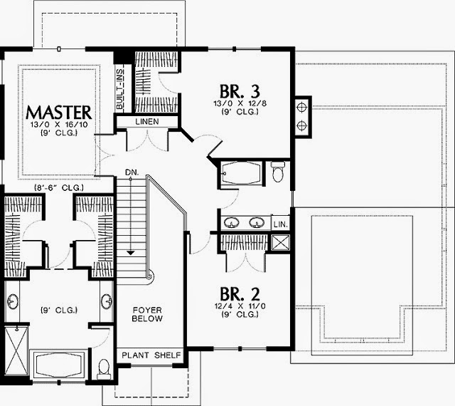 One Story House Plans with 2 Master Suites - AyanaHouse