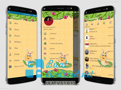 Download BBM Mod Tema Ulat Versi 3.1.0.13 Apk Terbaru Unclone