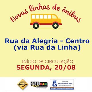 SAJ: Prefeitura atende pedido de moradores e Rua da Alegria ganha linha de ônibus