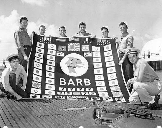 Bandera de combate del USS Barb