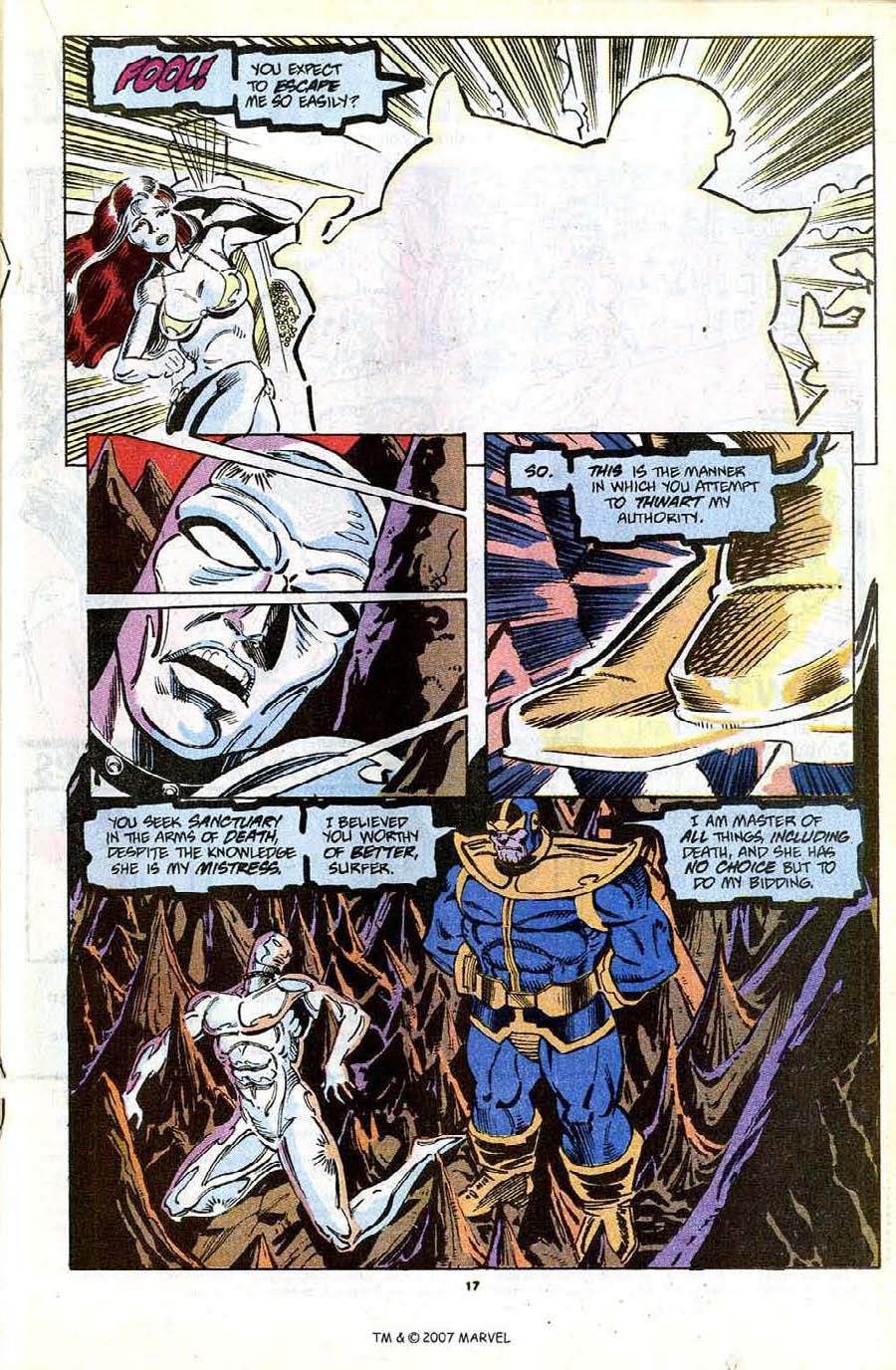 Read online Silver Surfer (1987) comic -  Issue #56 - 19
