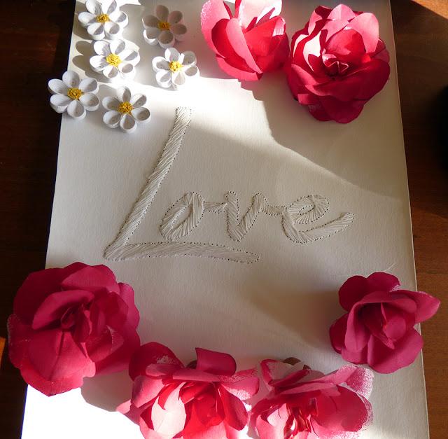 String Art - Love - Tablou Cusut Manual