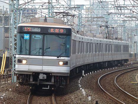 東京メトロ日比谷線 東武伊勢崎線直通 普通 北越谷行き2 03系LED車