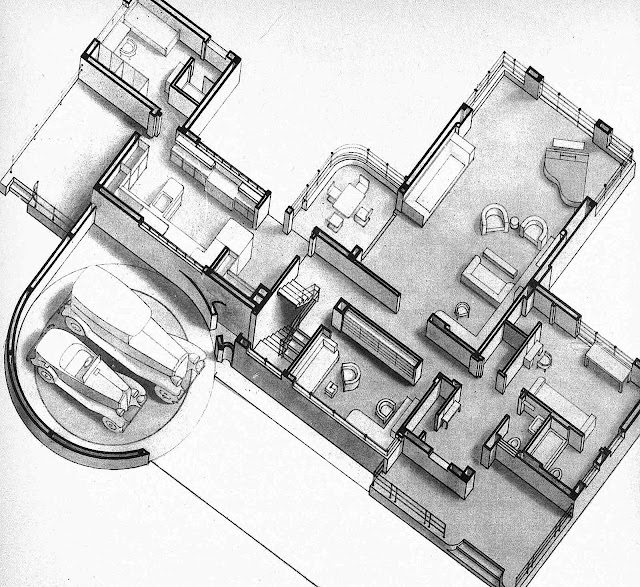 A Norman Bel Geddes 1930s home design