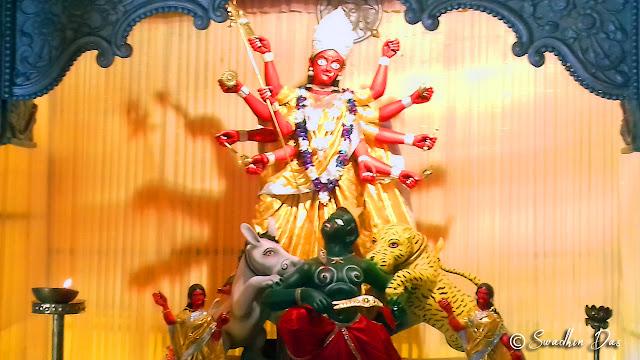 Durga Puja 2018 Lake Town Adhibasi Brinda Durga Idol