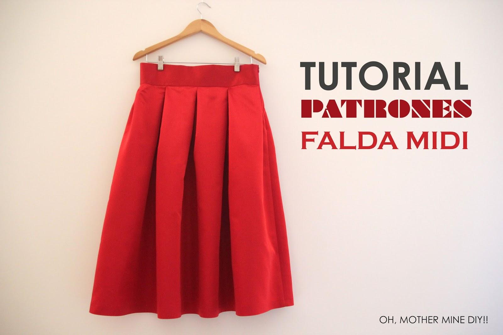 852e332cd DIY Tutoriales y patrones: Falda Midi Rojo Valentino - HANDBOX