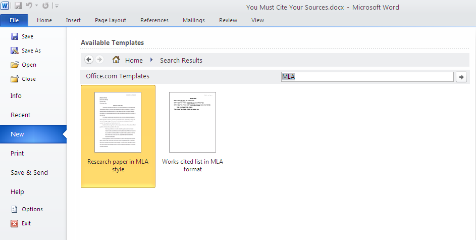office 2007 apa template - citation styles for research papers or class assignments