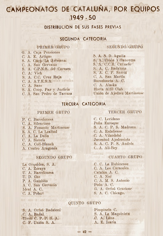 Calendario de la FCd'E de 1949