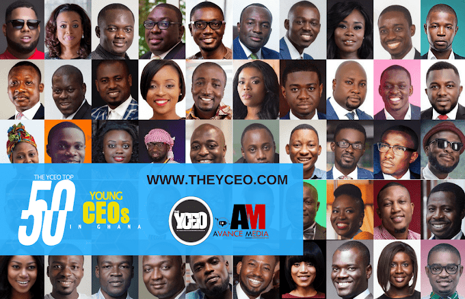 The YCEO announces its list of Top 50 Young CEOs in Ghana for 2018