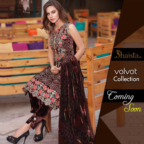 Shaista Cloth Winter Velvet Collection 2016-2017