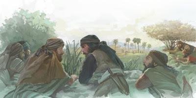 """O livro de Gênesis diz que o segundo lugar de Canaã onde Abraão edificou um altar a Deus na Terra Prometida teria sido entre Ai e Betel. Ali construiu um altar e revisitou o lugar depois da sua peregrinação no Egito. (Gênesis Capítulo 12 versículo 8 e Capítulo 13 versículo 3)  Em 1473 AC, depois da vitória sobre Jericó, Ai foi atacada por uma pequena força de cerca de 3.000 soldados israelitas, visto que os espias disseram sobre os habitantes de Ai: """"São poucos."""" (Josué Capítulo 7 versículos 2 e 3).   Entretanto não foi uma conquista fácil, devido à desobediência dos israelitas aos preceitos divinos, o que impôs uma derrota inicial.  Anteriormente no decorrer da invasão de Jericó, Deus ordenou que tudo em Jericó, seria anátema e que somente Raabe e sua família seriam salvos, pelo fato de ter ocultado os espias de Josué. E assim o foi, mas Acã, filho de Carmi tomou para si uma capa Babilônica e artefatos em ouro e prata e os escondeu sob a sua tenda em clara discordância às ordens de Deus.  E com isso caiu em desgraça.  Mas após terem se desfeito dos despojos escondidos por Acã e o mesmo ter recebido a morte por punição e com o arrependimento do povo, Josué recebe orientações e estratégia de Deus para atacar a cidade, Josué utilizou um estratagema contra Ai, armando uma emboscada por trás da cidade, de seu lado Oeste."""