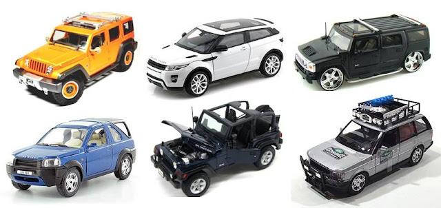 miniatur mobil mpv fortuner pajero pajangan mainan jeep land rover