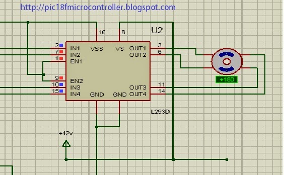 Bipolar Stepper Motor Interfacing With PIC Microcontroller (PIC18F2550) in Proteus [step by step]