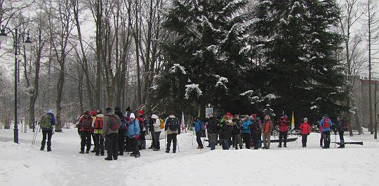 Grupa w Parku Zdrojowym.