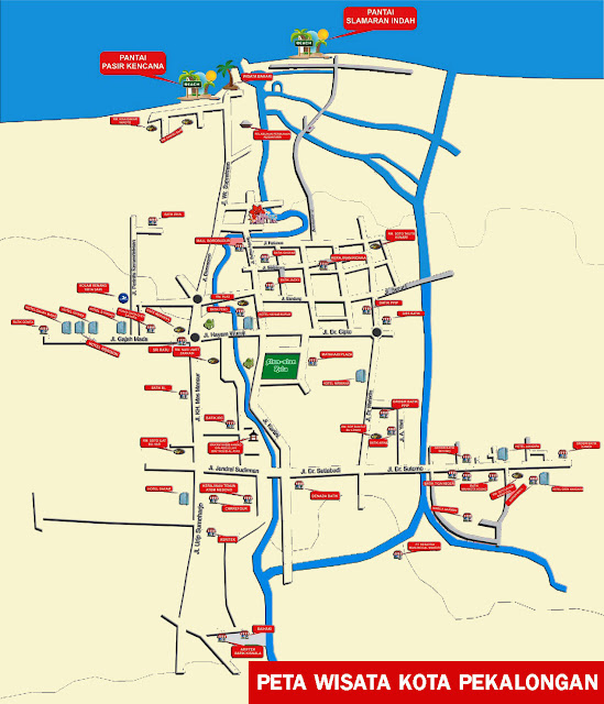 Gambar Peta Wisata Kota Pekalongan