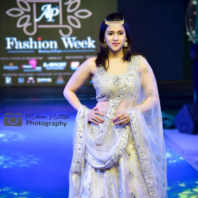 Mannara Chopra AP Fashion Week Stills