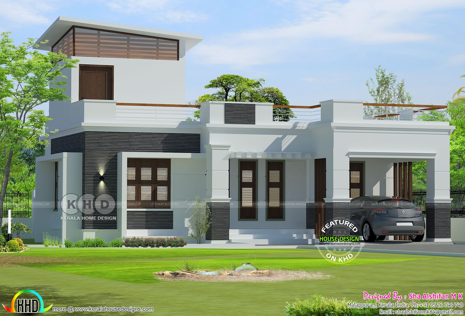 One Floor 2 Bedroom 1300 Square Feet Kerala Home Kerala Home Design Bloglovin