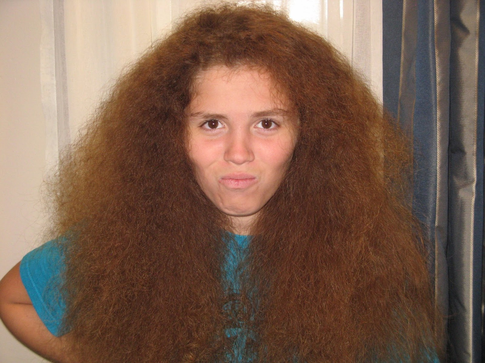 This Is The Curly Hair After Getting A Good Conditioning And Ironing It She Liked Her Long But To Was Too Much Maintenance Paloma Does Not