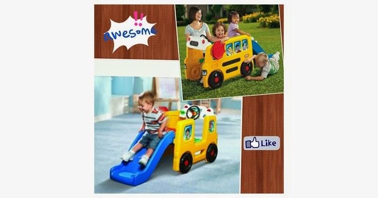 PZ031 - Little Tikes School Bus Activity Gym ~ Zaha Toys ...