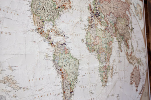 DIY Pinned Corkboard Travel Map