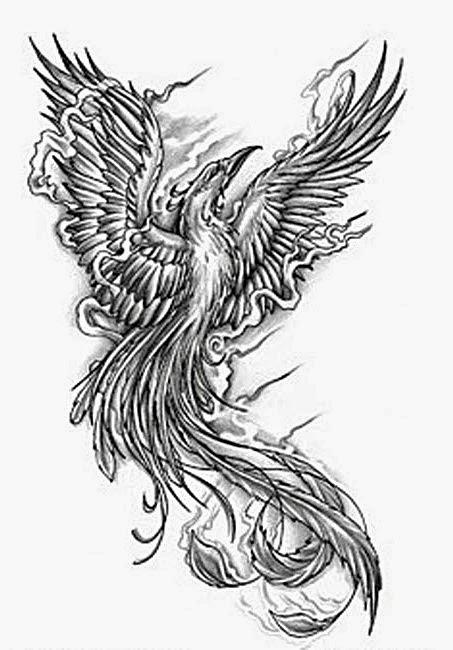 pasarea phionix schita de tatuaj