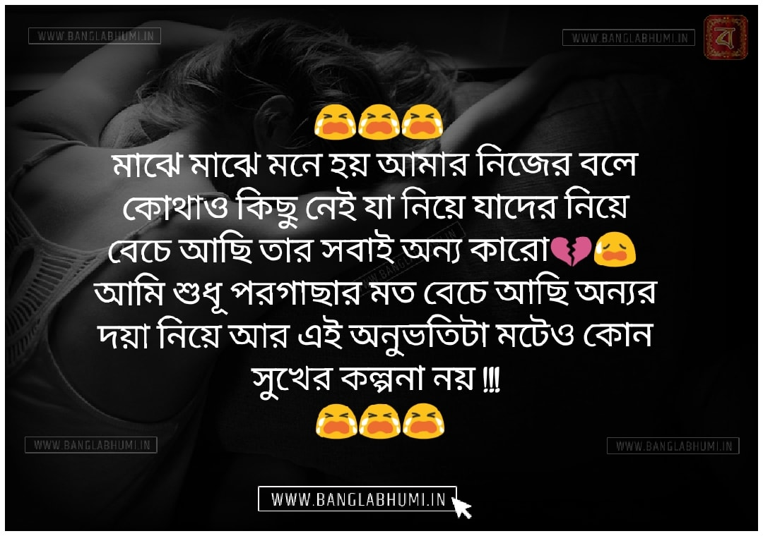 Whatsapp Bangla Sad Love Shayari Free Download & share
